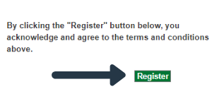 ILLiad login screen with arrow pointing to the register button